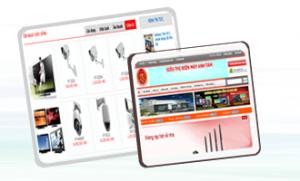 Thiết kế web Siêu thị, điện máy