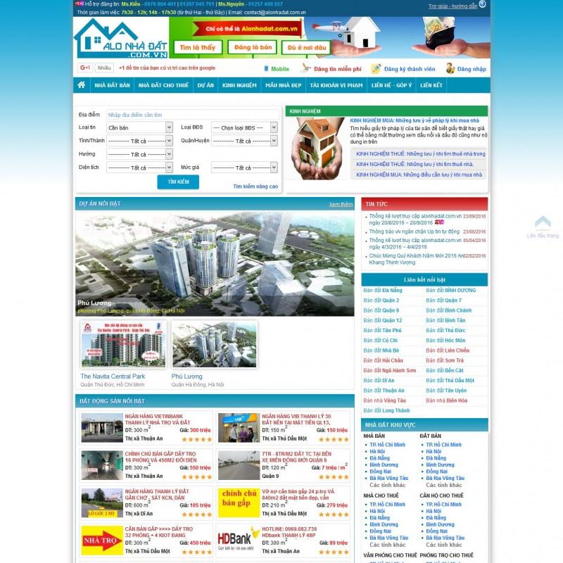 AKRwebvietC108 – alonhadat.com.vn Thiết kế website mua bán nhà đất
