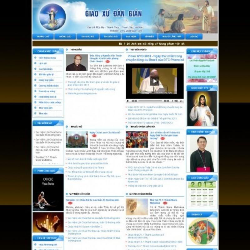 AKRwebvietC19 – Mẫu thiết website giáo xứ gxdangian.com