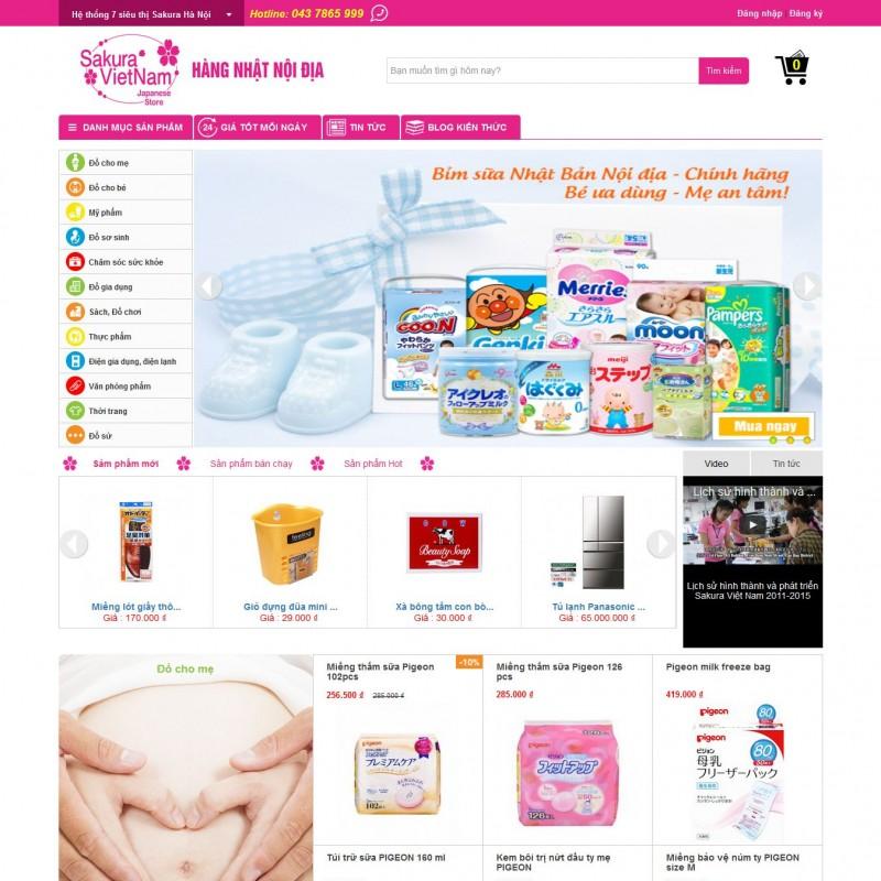AKRwebvietC104 – thiết kế website siêu thị hàng nhật sakuravietnam.com.vn