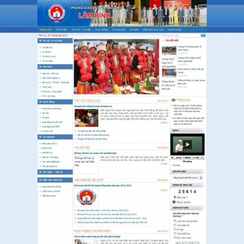 AKRwebvietC14 – thiết kế website đơn vị sở ngành lambinh.edu.vn
