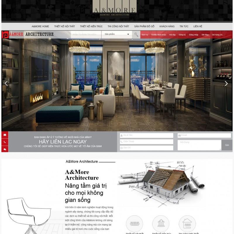 AKRwebvietC106 – Thiết kế website nội thất nhà đẹp amore-architecture.vn