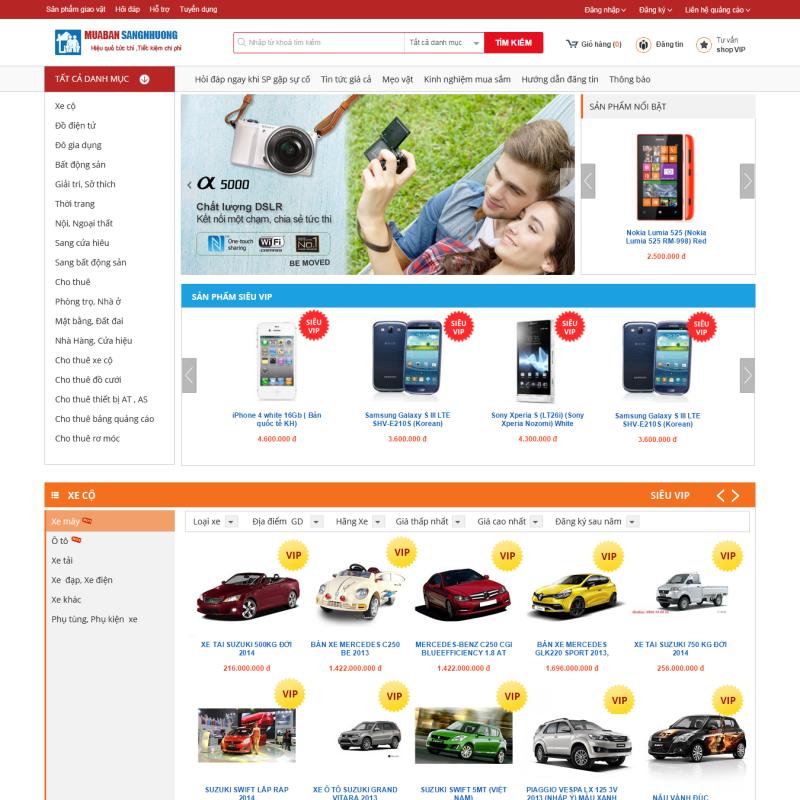 AKRwebvietC73 – thiết kế web Đăng tin rao vặt sang nhượng muabansangnhuong.vn