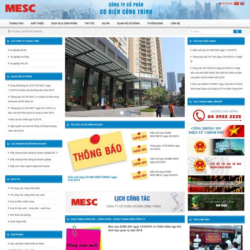 AKRwebvietC155 – mesc.com.vn – CÔNG TY CỔ PHẦN CƠ ĐIỆN CÔNG TRÌNH