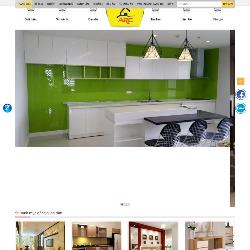 AKRwebvietC151 – noithatarc.com – SHOWROOM ARC chuyên tủ bếp, kệ tivi, giường ngủ, bàn phấn, kệ sách, bàn ăn… giá rẻ
