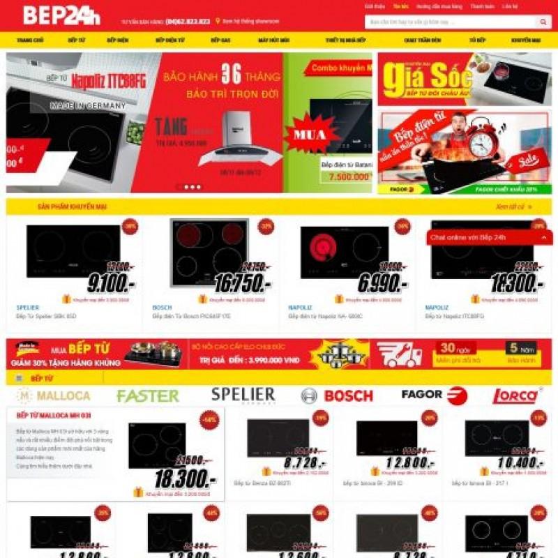 AKRwebvietC113 – beponline24h.com.vn – Thiết kế website siêu thị bếp từ