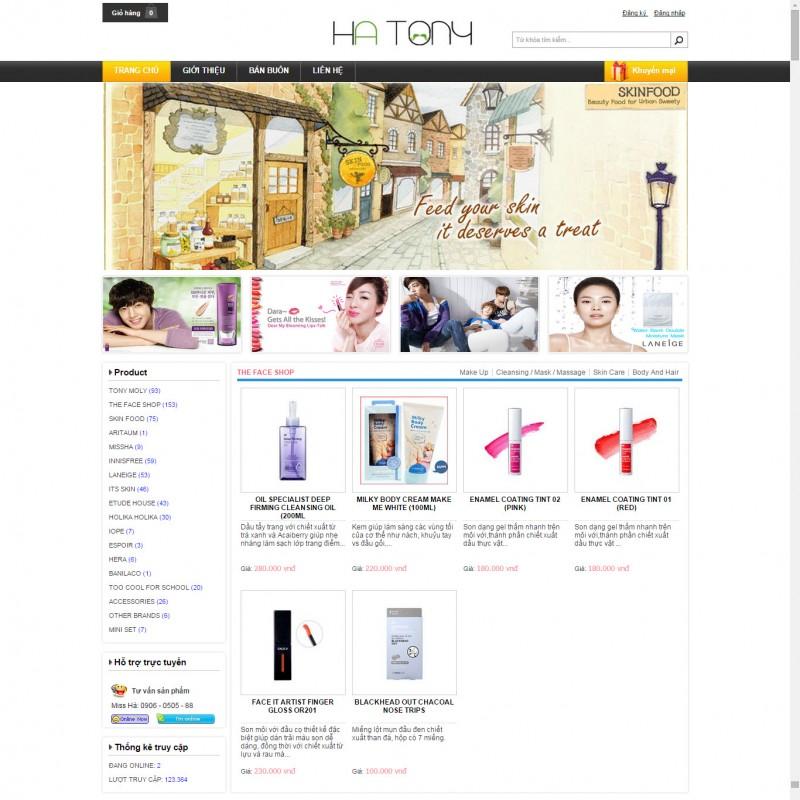 AKRwebvietC47 – mẫu thiết kế website hàng hiệu Hàn Quốc hatony.vn