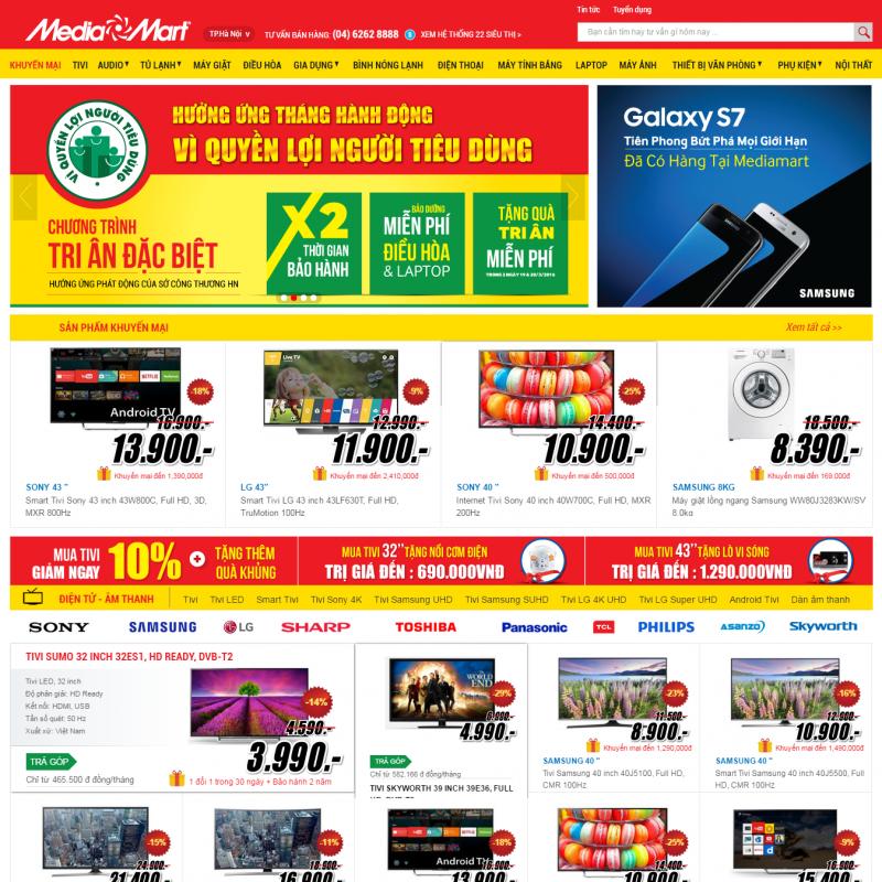 AKRwebvietC89 – mediamart.vn mẫu thiết kế website thương mại điện tử