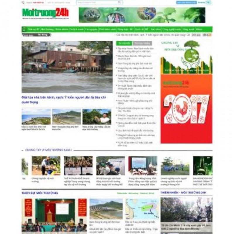 AKRwebvietC112 – moitruong24h.vn – Thiết kế website tin tức môi trường xã hội