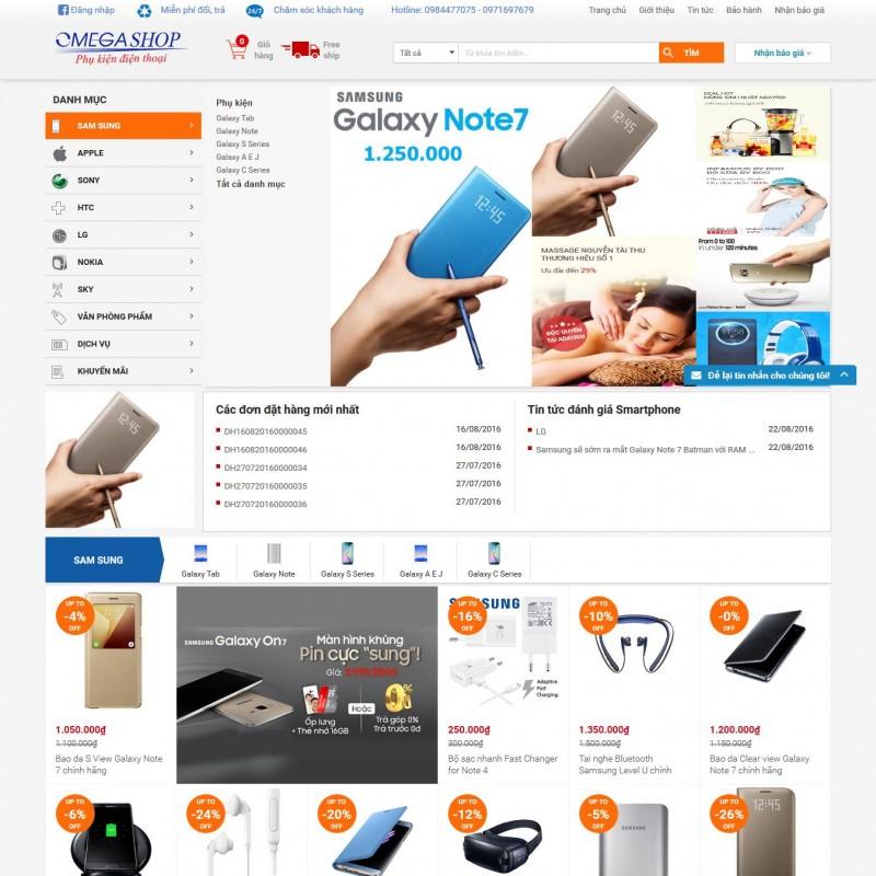 AKRwebvietC105 – thiết kế website phụ kiện điện thoại Samstore.vn