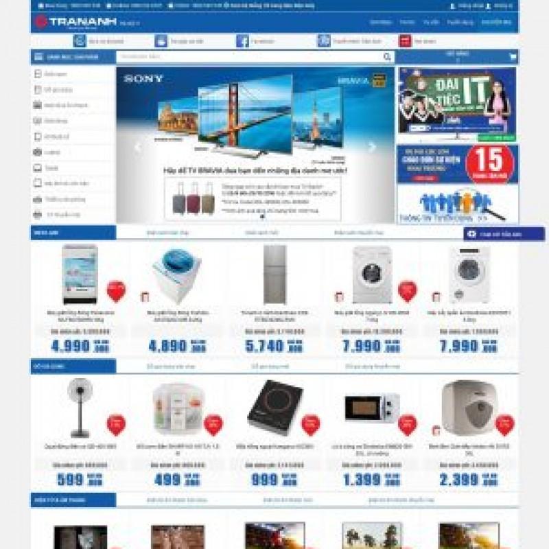 AKRwebvietC103 – Mẫu thiết kế website siêu thị điện máy Trananh.vn