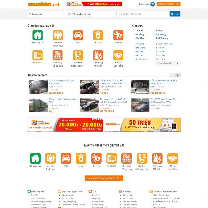 AKRwebvietC102 – muaban.net Thiết kế website Mua bán rao vặt bất động sản